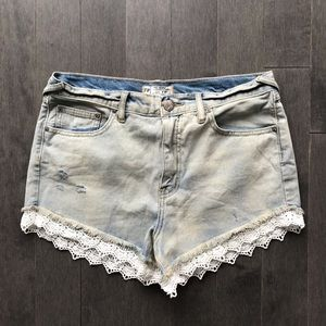 Free People Lace Hem shorts